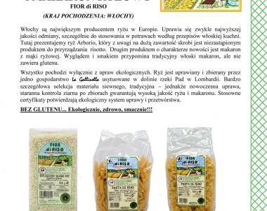 Ekologiczny ryż i makarony ryżowe