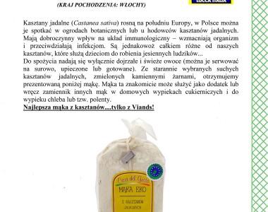 Mąka z kasztanów