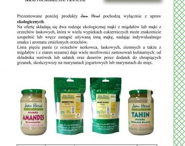 Ekologiczne pure i mąki