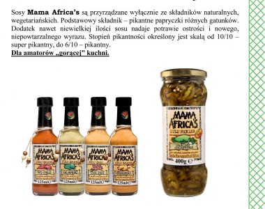 Pikantne sosy Mama Africa's